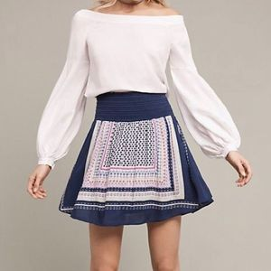 NWT Anthropologie Holding Horses Andie Skirt